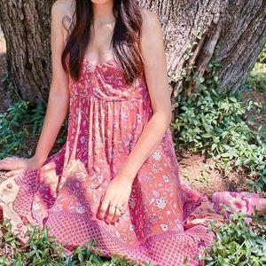 NWT Spell x FP Portobello Strappy Maxi Dress